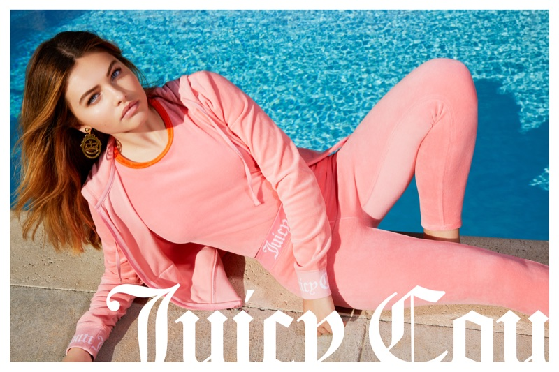An image from Juicy Couture's spring 2018 advertising campaign with Thylane Blondeau