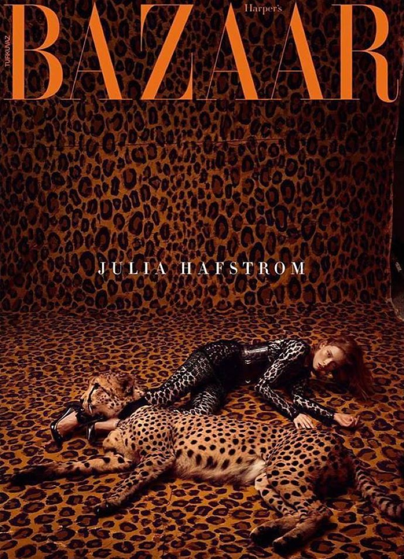 Julia Hafstrom Walks the Wild Side for Harper's Bazaar Turkey