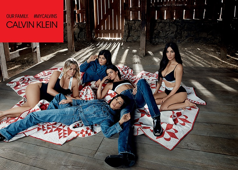 Calvin Klein focuses on denim and underwear with the Kardashian and Jenner sisters