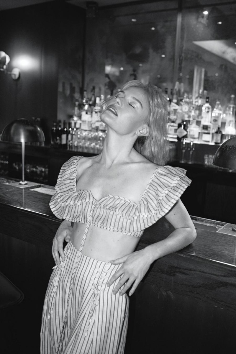 Actress Kate Bosworth wears Zimmermann top and pants