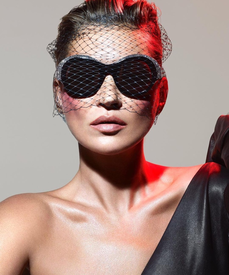 Alain Mikli x Alexandre Vauthier sunglasses campaign with Kate Moss