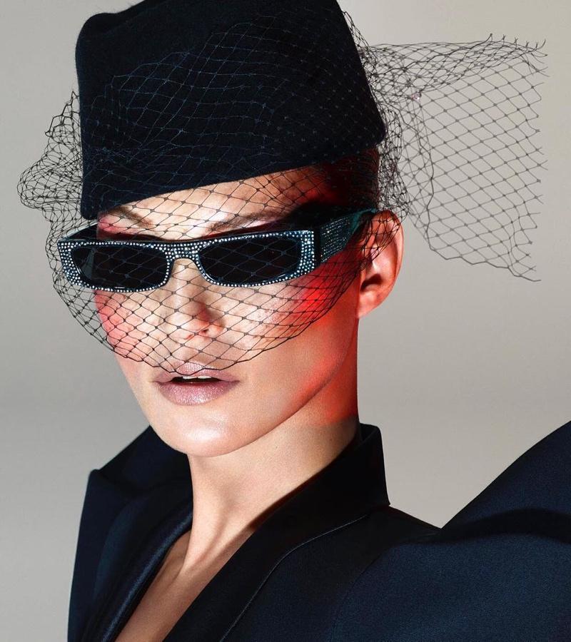 Mert & Marcus photograph Kate Moss for Alain Mikli x Alexandre Vauthier sunglasses campaign