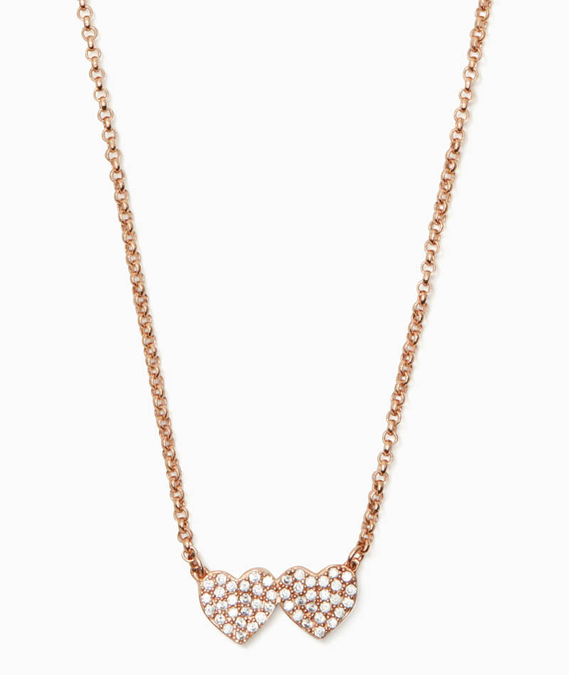 Kate Spade Yours Truly Pave Heart Mini Pendant $68