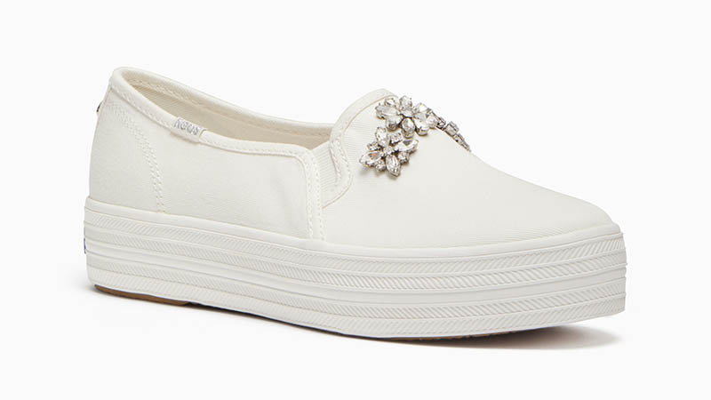 Keds x Kate Spade Triple Decker Sneakers with Rhinestones $120