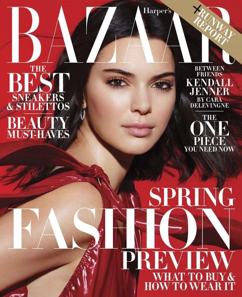 Kendall Jenner Takes On Spring Showers for Harper's Bazaar