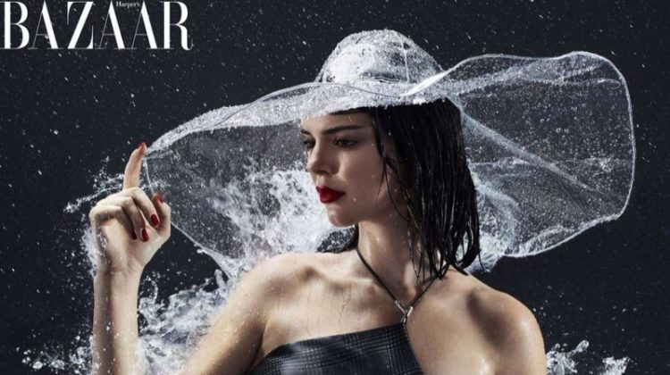Kendall Jenner Takes On Spring Showers for Harper's Bazaar