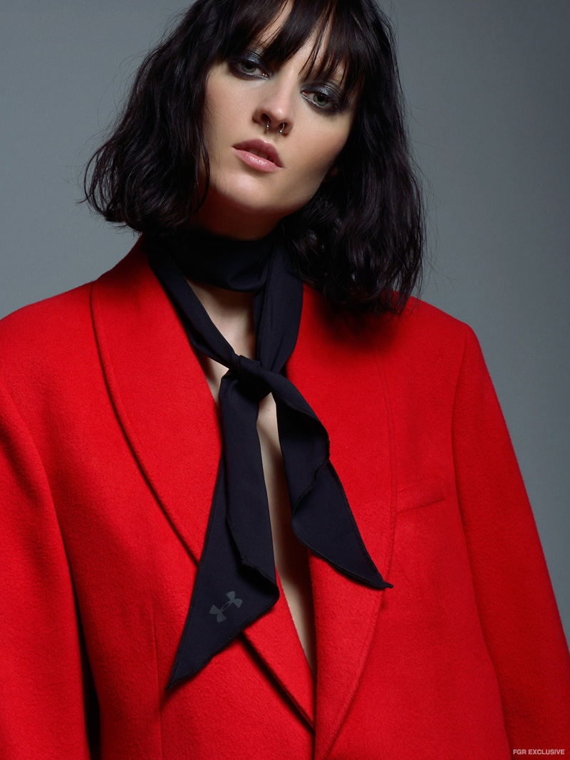 Lina Cantillo Red Coat