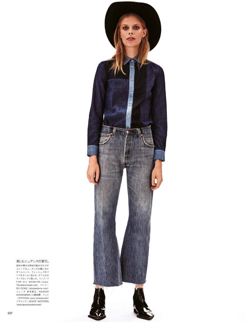 Lexi Boling Rocks Double Denim Fashion for Vogue Japan