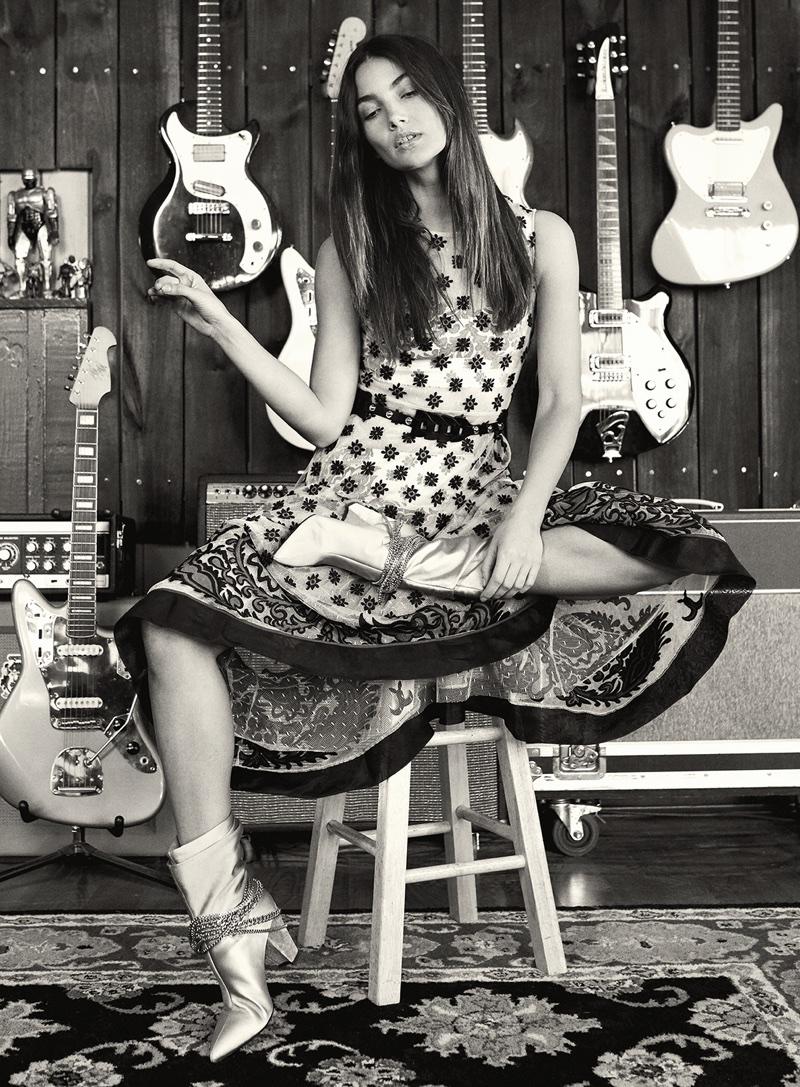 Lily Aldridge is an Urban Cowgirl in V Magazine