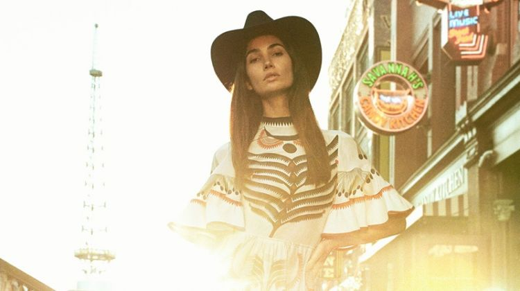 Lily Aldridge is an Urban Cowgirl in V Magazine