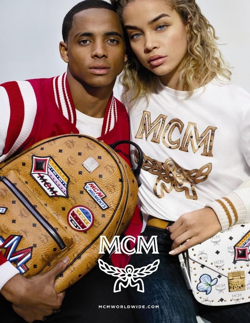 Cordell Broadus and Jasmine Sanders appear in MCM's spring-summer 2018 campaign