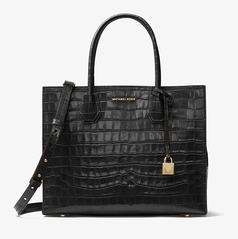 MICHAEL Michael Kors Mercer Embossed-Leather Tote Bag $214.80 (previously $358)