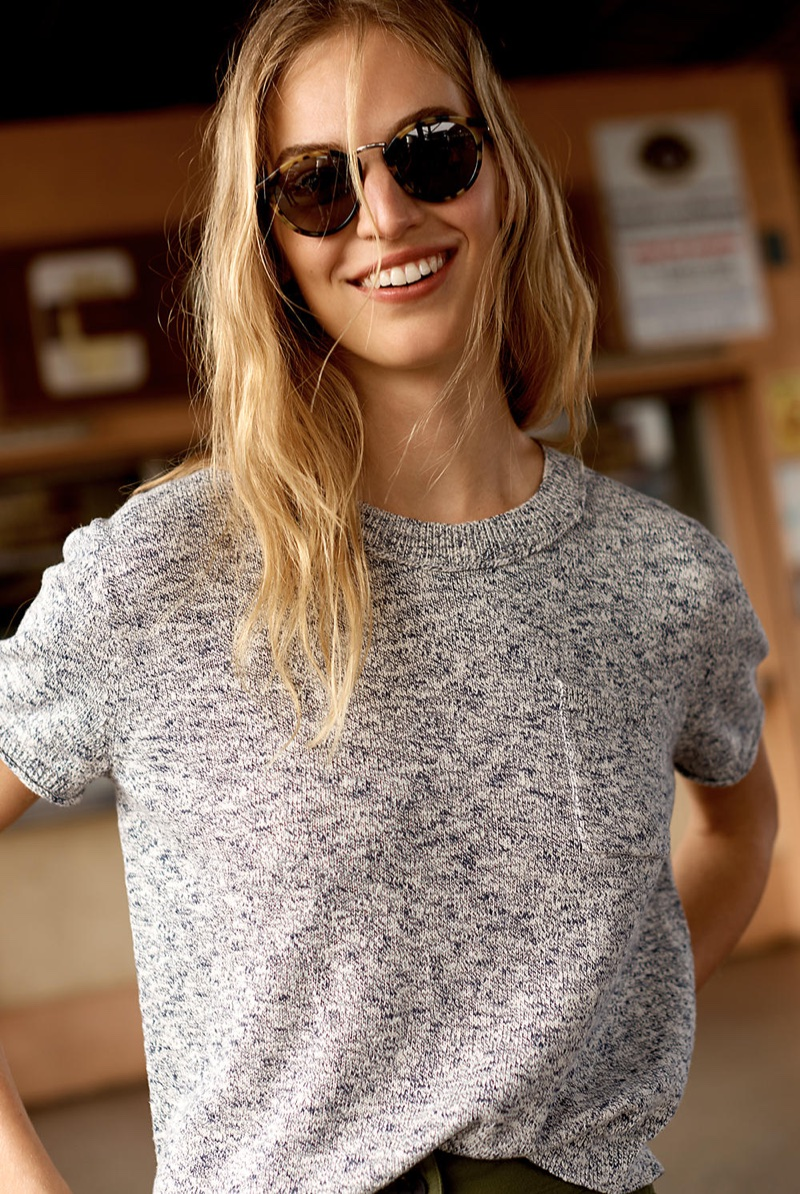 Madewell Pocket Tee Sweater and Indio Sunglasses