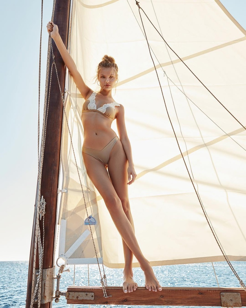 An image from Bikini Lovers' spring 2018 advertising campaign with Magdalena Frackowiak