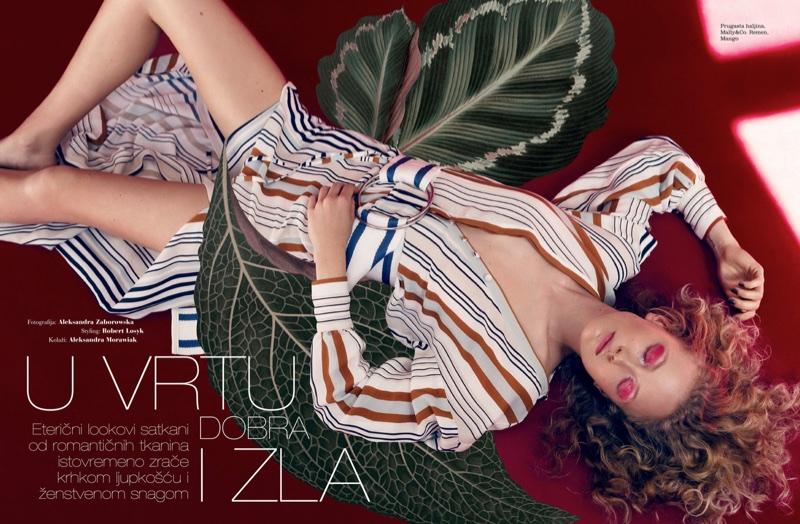 Marta Gawron Poses in Dreamy Looks for ELLE Croatia