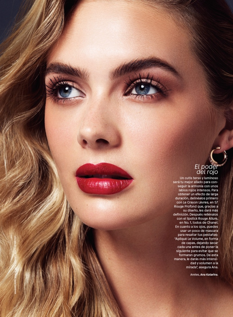 Megan Williams Models Luxe Makeup Looks in Glamour Latin America