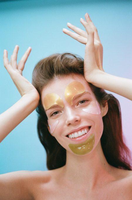 Meghan Collison Wears Bold Beauty Masks in Vogue Ukraine