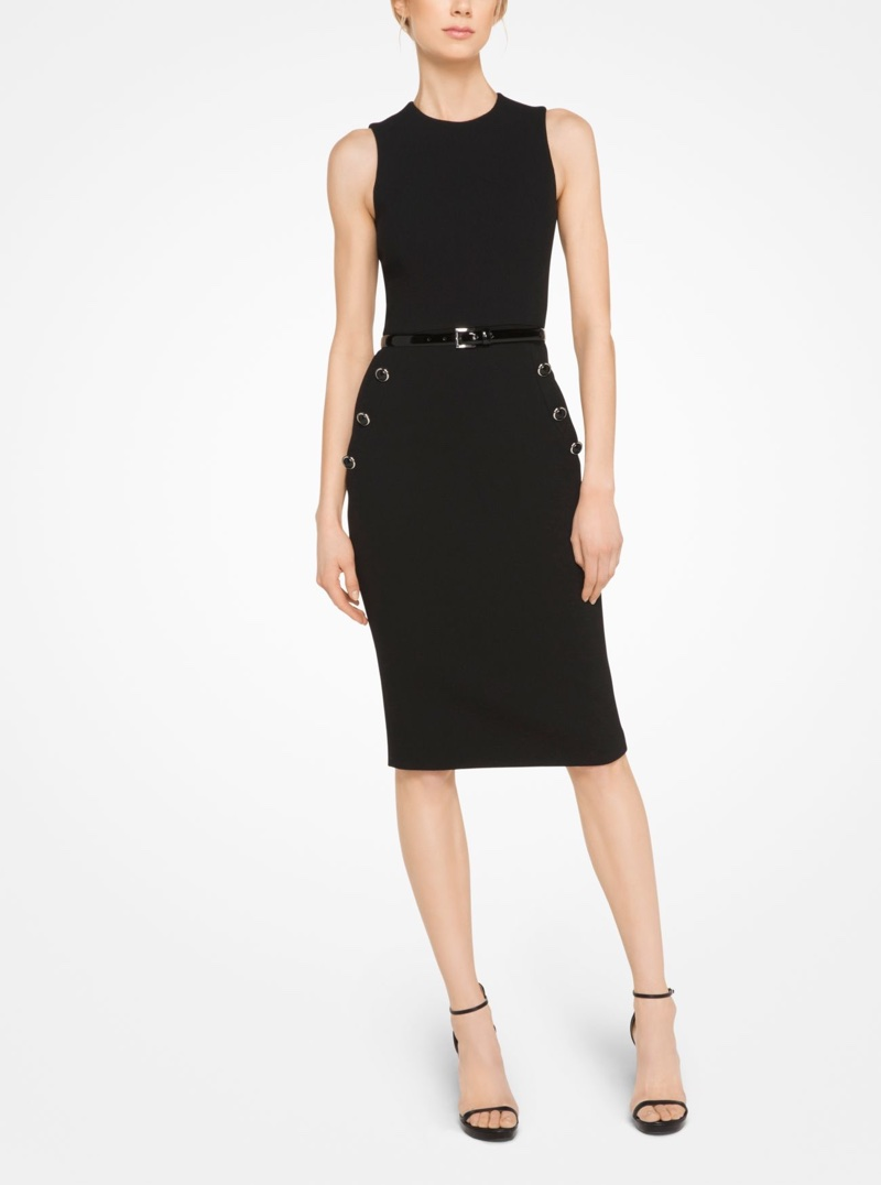 Michael Kors Collection Stretch Bouclé-Crepe Sheath Dress $508.50 (previously $1,695)