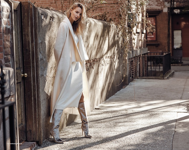 Michaela Kocianova Poses in Winter Fashions for Venice Magazine