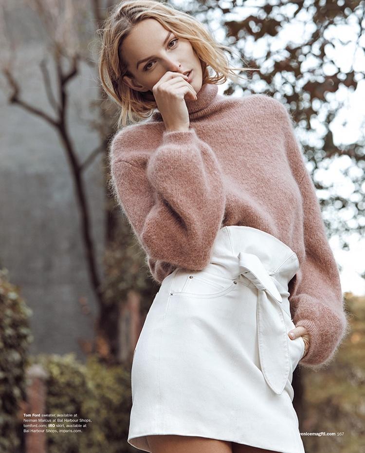 Michaela Kocianova Poses in Winter Fashions for Venice Magazine