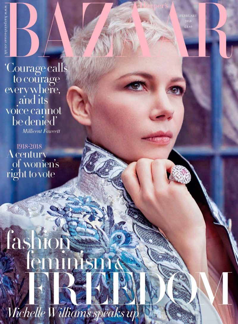 Michelle Williams on Harper's Bazaar UK February 2018 Cover