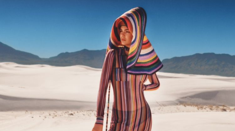 Kendall Jenner Takes to the Desert in Missoni's Spring 2018 Campaign