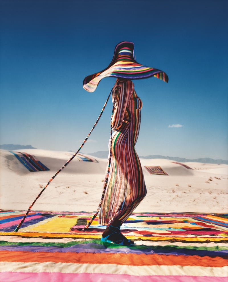 An image from Missoni's spring 2018 advertising campaign with Kendall Jenner