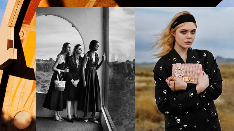 Elle Fanning stars in Miu Miu's spring-summer 2018 campaign