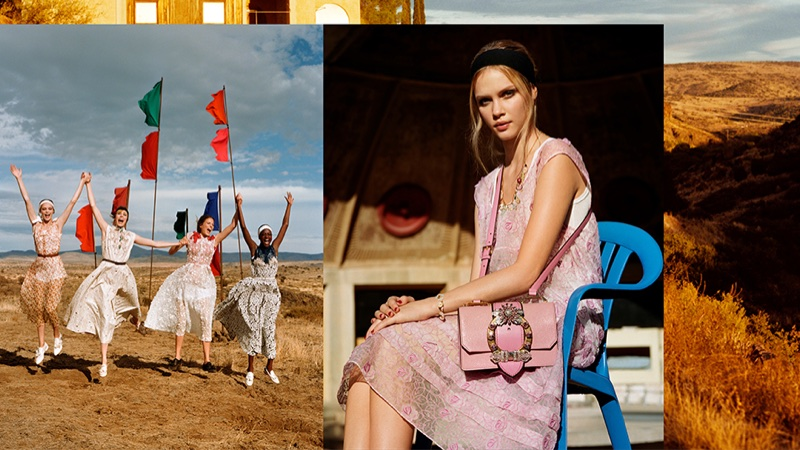Faith Lynch appears in Miu Miu's spring-summer 2018 campaign