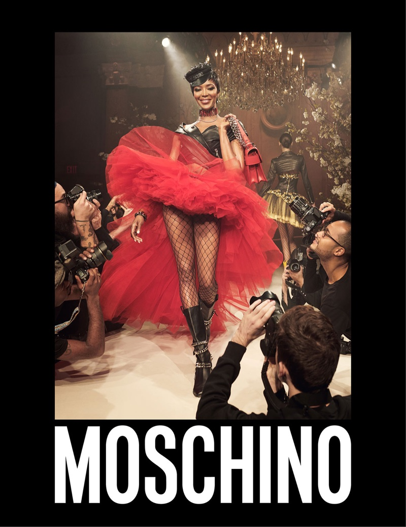 Naomi Campbell stars in Moschino's spring-summer 2018 campaign