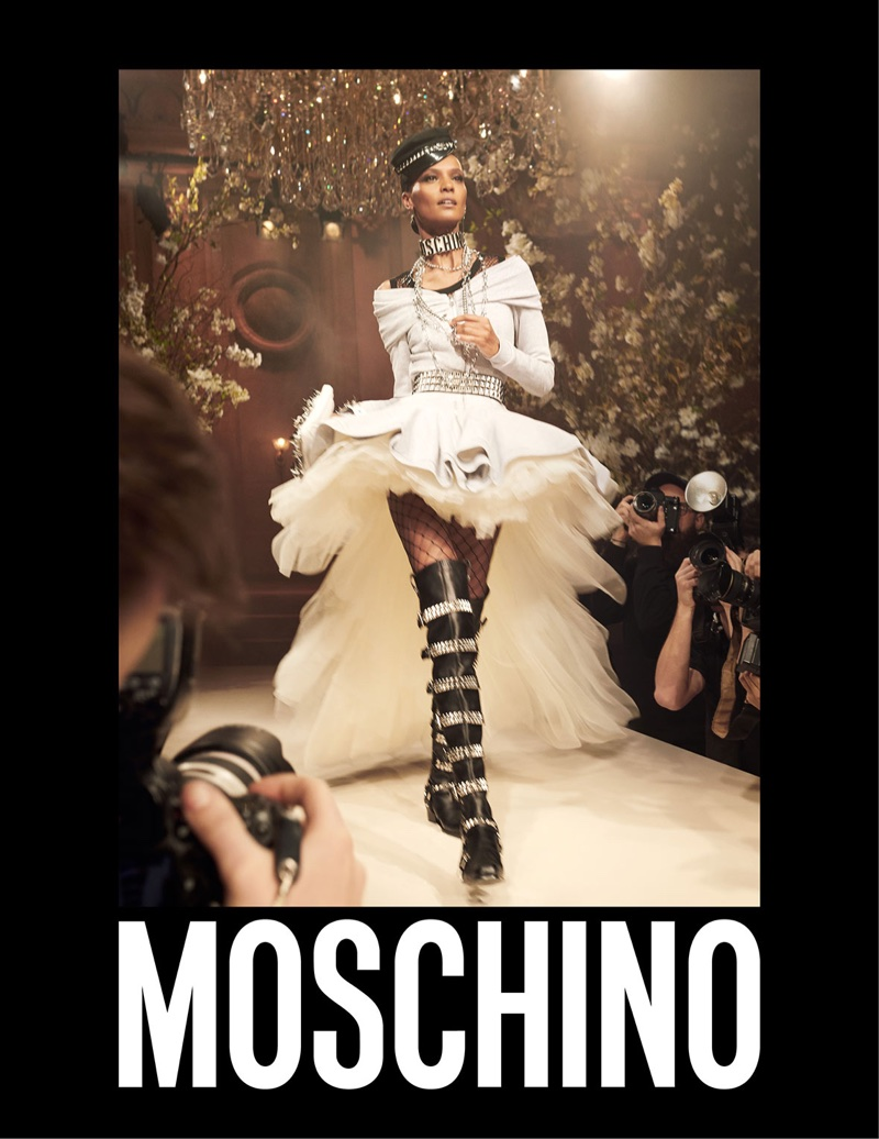 Liya Kebede fronts Moschino's spring-summer 2018 campaign