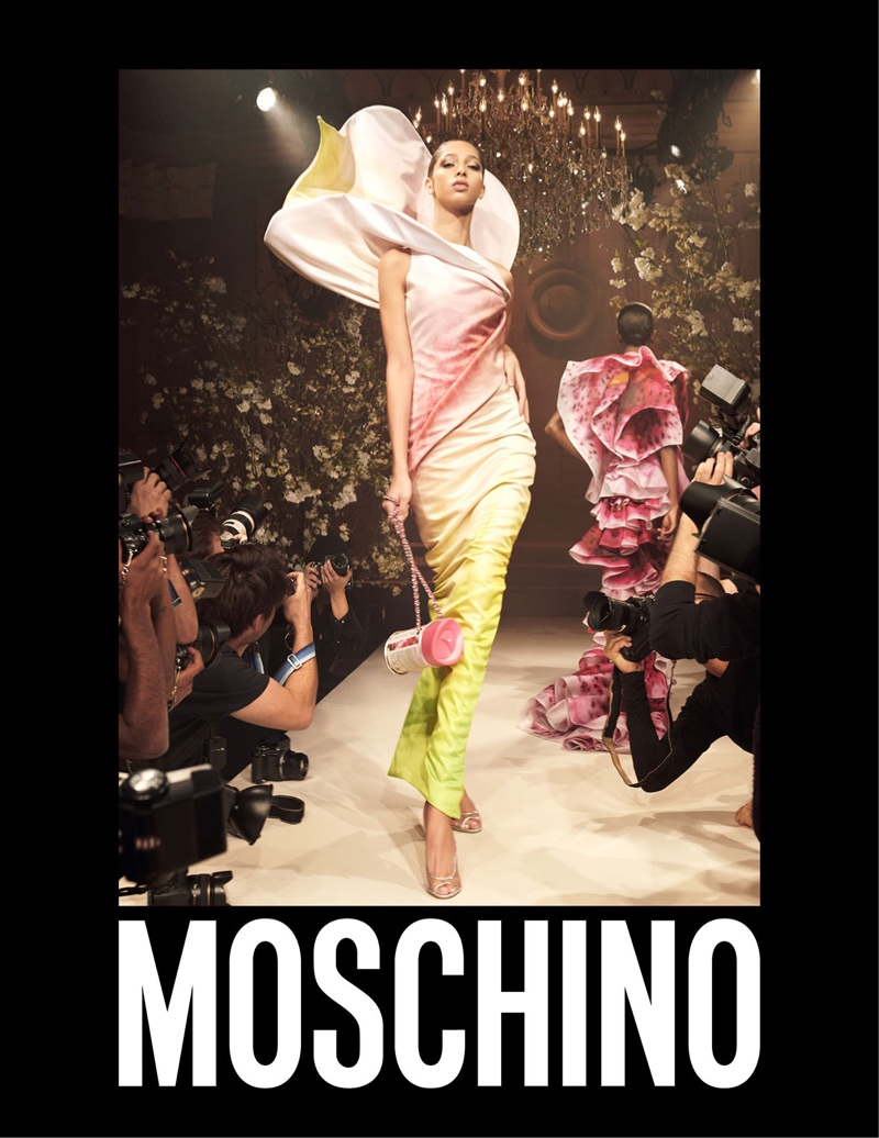 Yasmin Wijnaldum appears in Moschino's spring-summer 2018 campaign