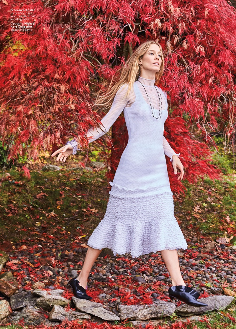 Natasa Vojnovic Poses in Elegantly Relaxed Looks for InStyle