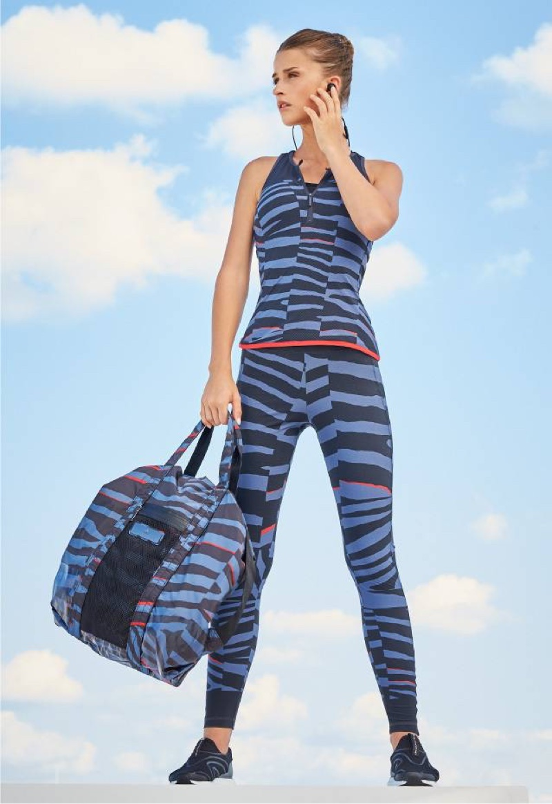 adidas by Stella McCartney Broken-Stripe Sculpting Tank, Leggings and Gym Bag