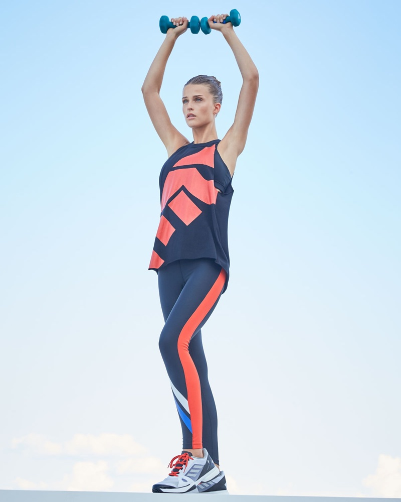 PE Nation Final Race Statement Tank Top and The Knockout Full-Length Performance Leggings