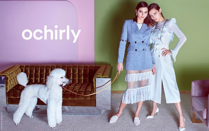 Kendall Jenner and Bella Hadid star in Ochirly's spring-summer 2018 campaign
