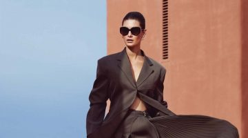 Ophelie Guillermand Models the New Neutrals for Harper's Bazaar