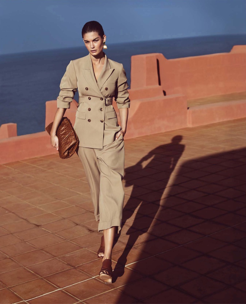 Ophelie Guillermand Models the New Neutrals for Harper's Bazaar