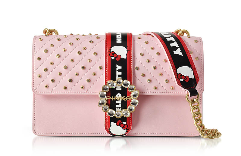 PINKO x Hello Kitty Jewel Eco Leather Shoulder Bag $489