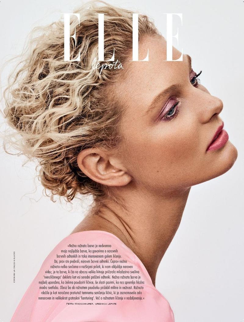Patricia van der Vliet Looks Pretty in Pastels for ELLE Slovenia