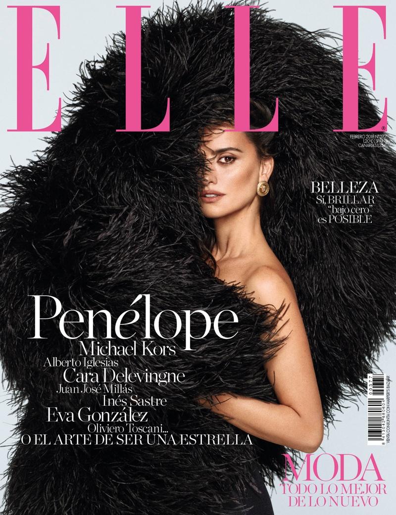 Penelope Cruz on ELLE Spain February 2018 Cover
