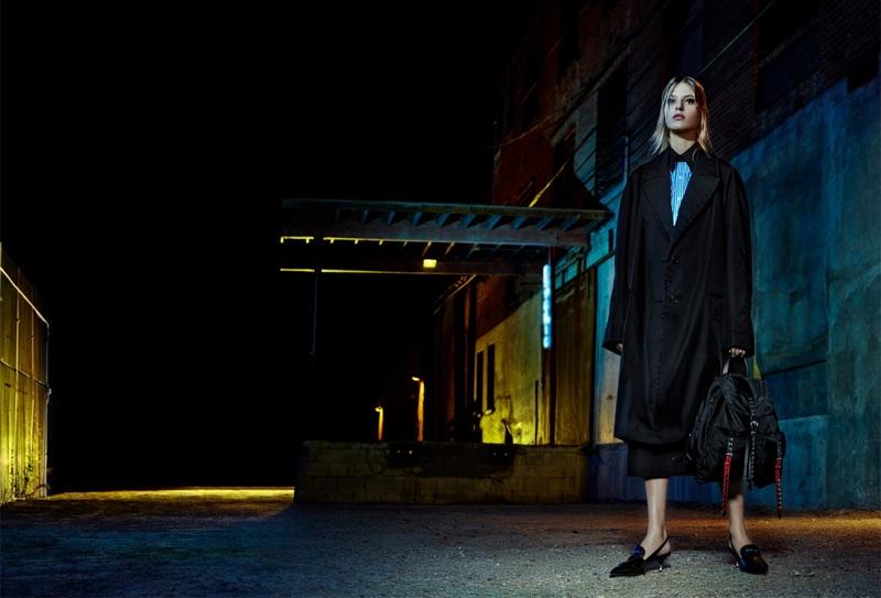Line Kjaergaard fronts Prada's spring-summer 2018 campaign