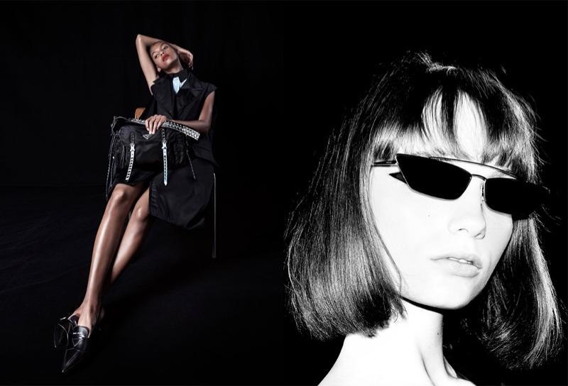 Alyssa Traoré and Fran Summers front Prada's spring-summer 2018 campaign
