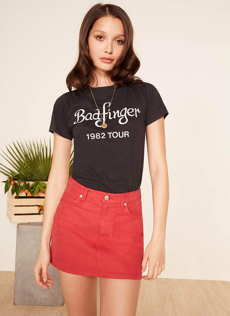 Reformation Becca Skirt in Cherry $98