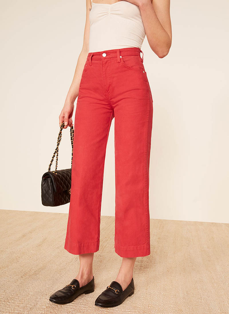 Reformation Chevy Pant in Cherry $148