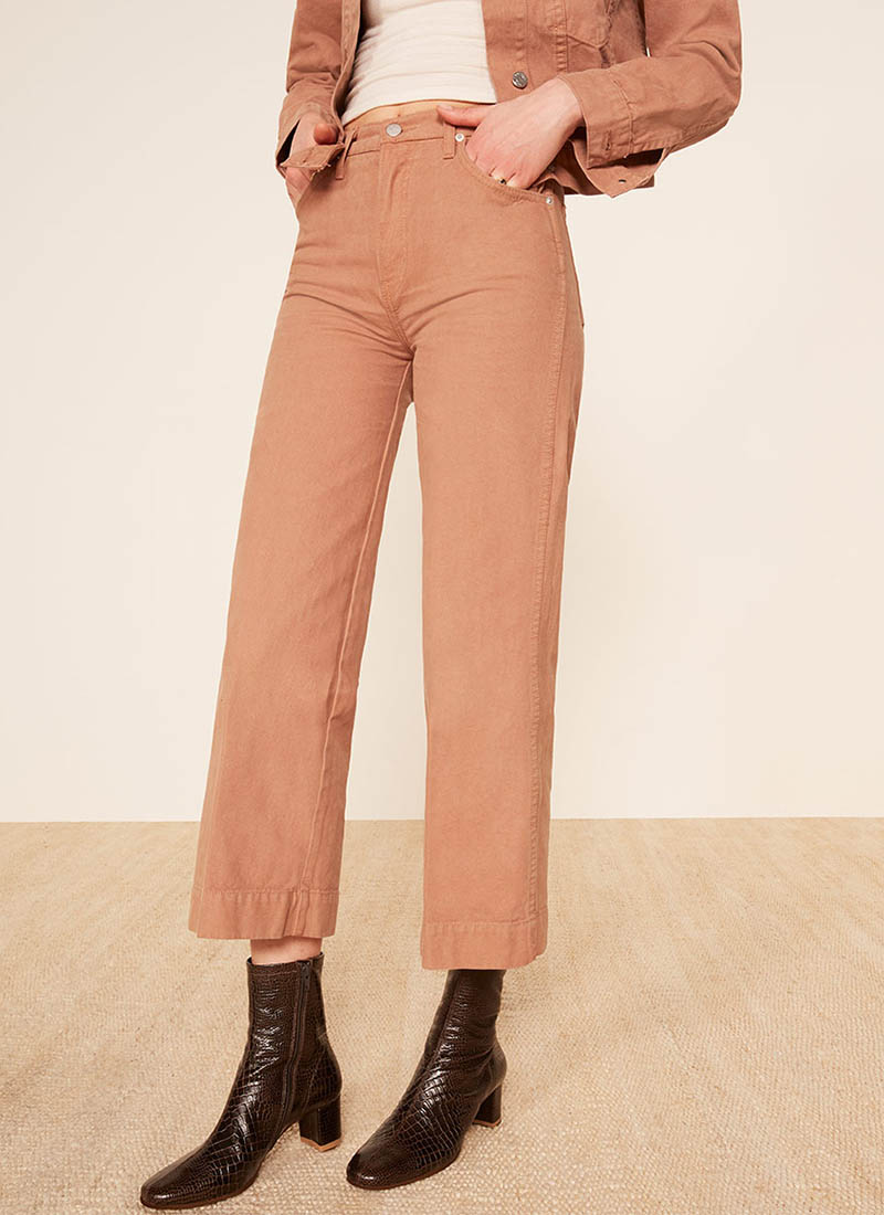 Reformation Chevy Pant in Nutmeg $148