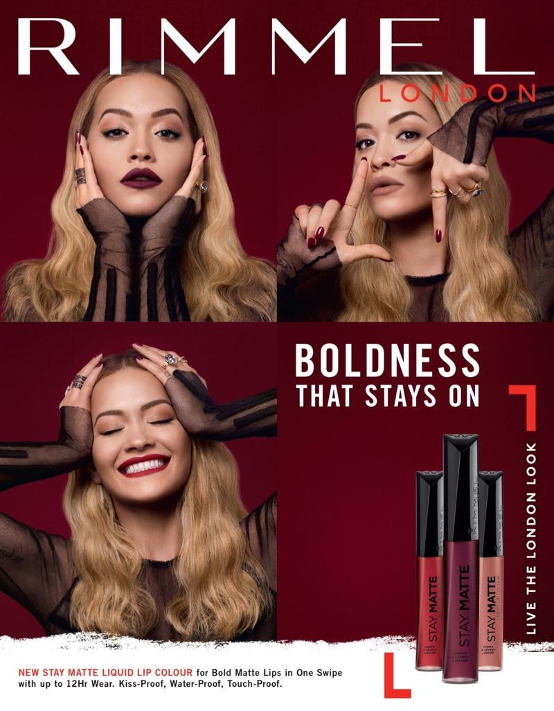 Rita Ora stars in Rimmel London's Stay Matte Liquid Lipstick campaign