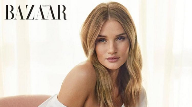 Rosie Huntington-Whiteley Models Chic Styles for Harper's Bazaar UK