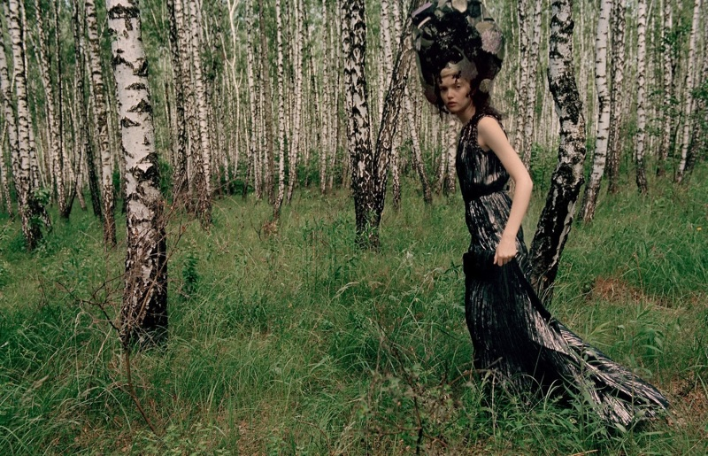 Ruth Bell Models Enchanting Dresses for Vogue China