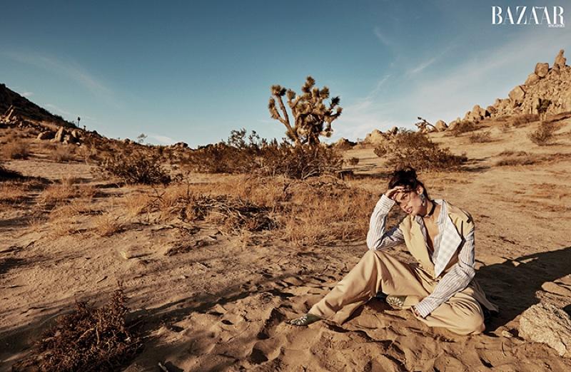 Sara Sampaio is Queen of the Desert for Harper's Bazaar Singapore